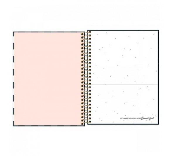 caderno espiral capa dura colegial 10 materias west village 160 folhas 235580 1