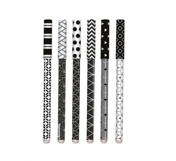 caneta molin preta e branca