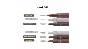 caneta nanquim uni pin uni ball kit c 6 canetas novas cores 307 1 20201214020121