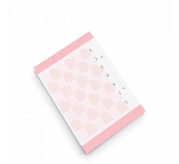 planner de mesa mensal pink stone otima
