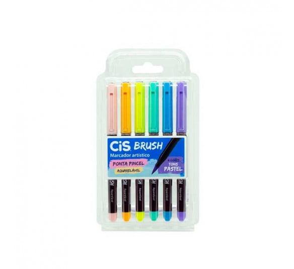 brush cis pastel 6 cores 1