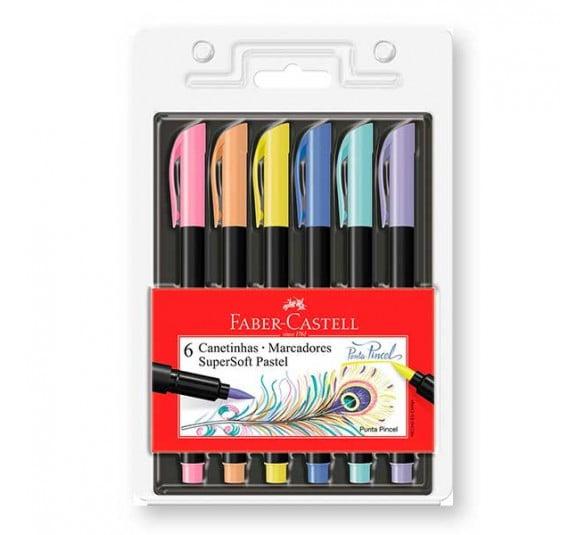 brush faber kit com 6 cores