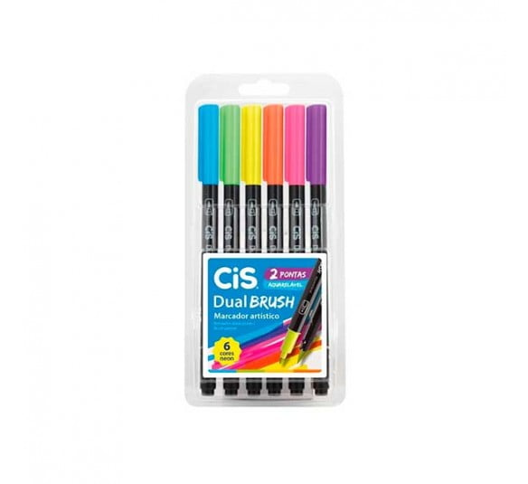 brush cis neon 6 cores dual