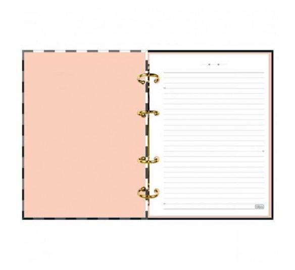 caderno argolado cartonado colegial west village 160 folhas 310298 3