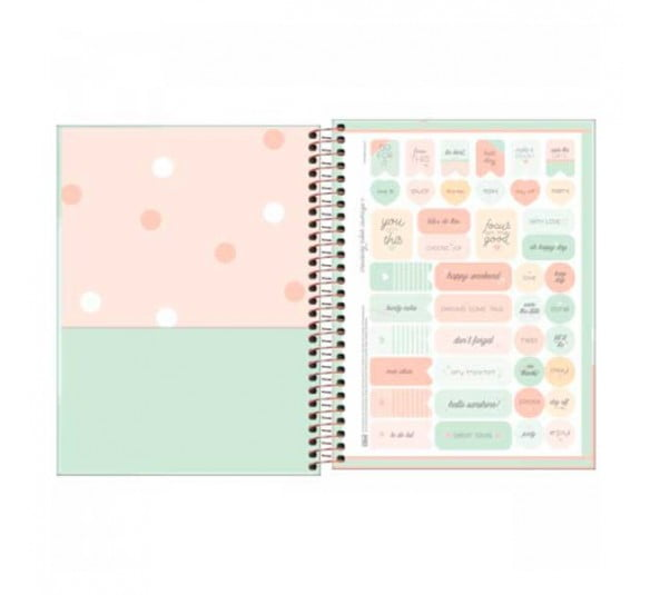 caderno espiral capa dura colegial 10 materias soho 160 folhas 291358 2