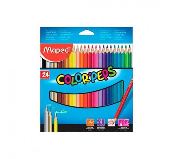 maped lapis de cor 24 cores colors peps