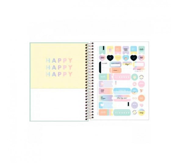 planner espiral happy verde 2