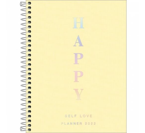 planner m7 happy amarelo