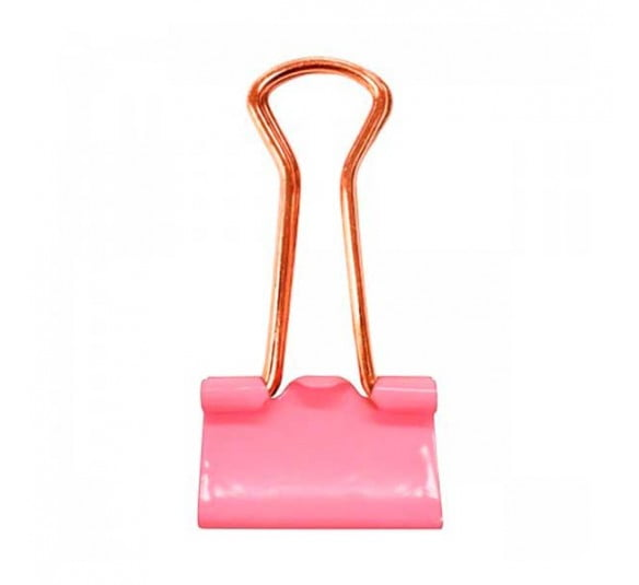 prendedor de papel 19mm rosa pastel 12 unidades 315788 1