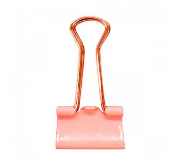 prendedor de papel 19mm rosa pastel 12 unidades 315788 2