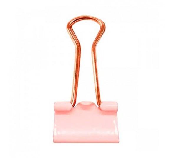 prendedor de papel 19mm rosa pastel 12 unidades 315788 3