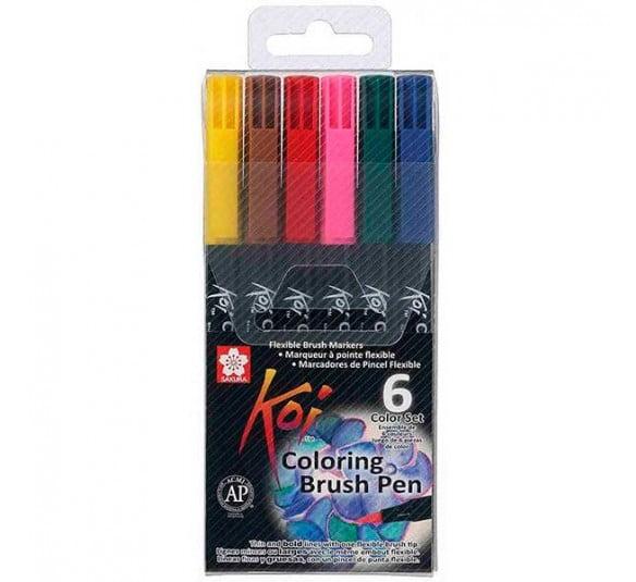 brush koi coloring 6 cores 1