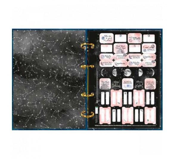 caderno argolado cartonado colegial magic 160 folhas 313408 2