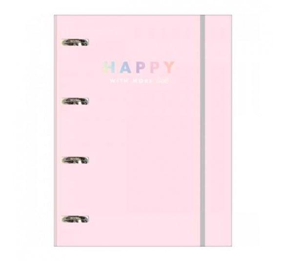 caderno argolado cartonado universitario com elastico happy 80 folhas 305626 e1