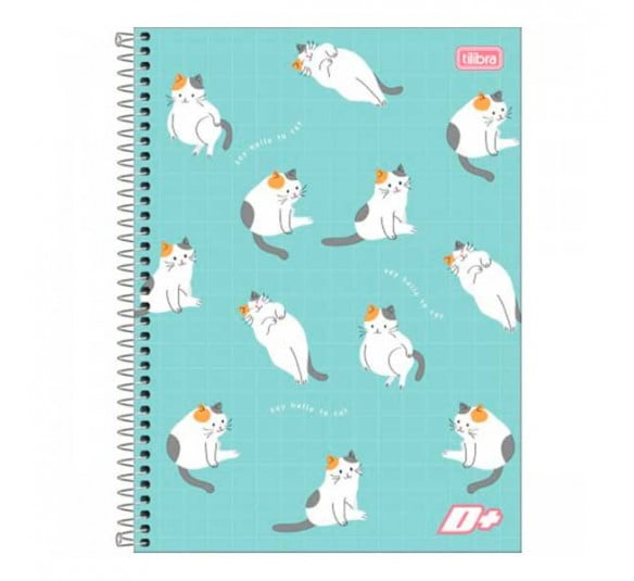 caderno espiral capa dura universitario 10 materias d feminino 200 folhas 139289 e4