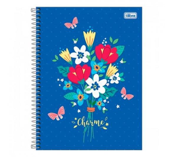 caderno espiral capa dura universitario 16 materias charme 256 folhas 302201 e2