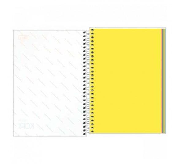 caderno espiral capa plastica 14 sem pauta neon kori 80 folhas 302775 1
