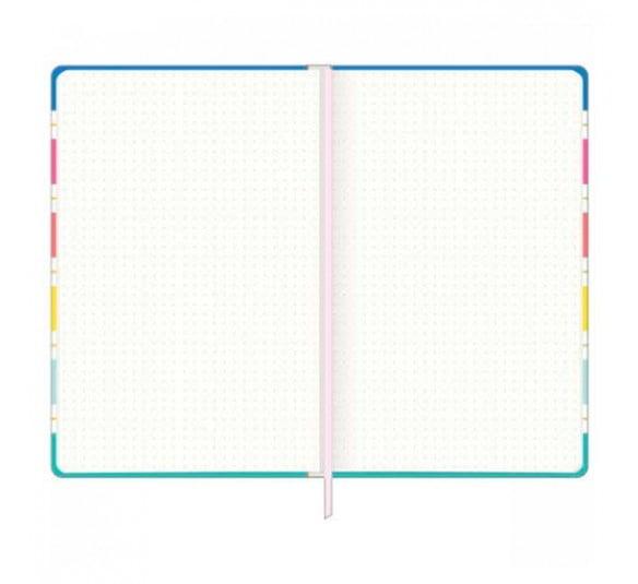 caderno pontilhado costurado capa dura fitto g be nice 80 folhas 313556 2