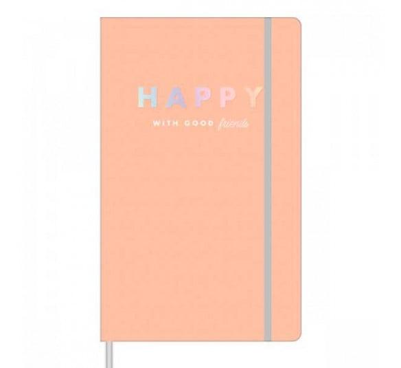 caderno pontilhado costurado capa dura fitto g happy 80 folhas 304492 e2