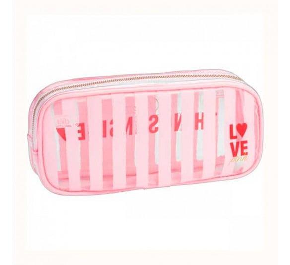 estojo love pink tilibra frente