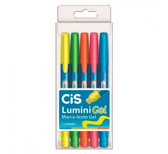 marca texto gel cis lumini 5 cores