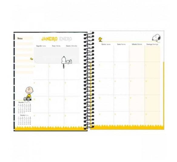 planner espiral snoopy 2021 301353 4