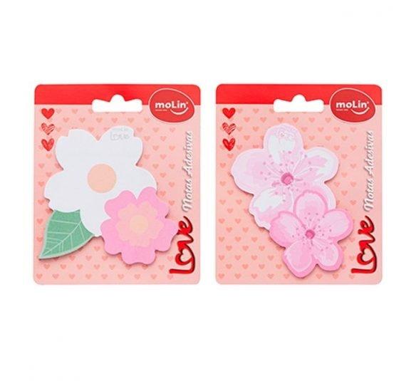 bloco adesivo flores