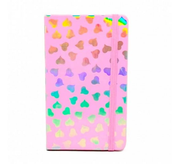 bloco de notas coracao sanxia rosa
