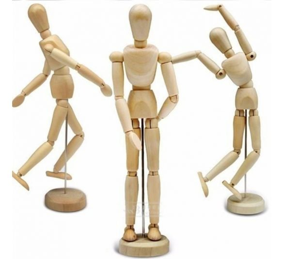 boneco articulado manequim madeira 30 cm desenho modelagem 12737251