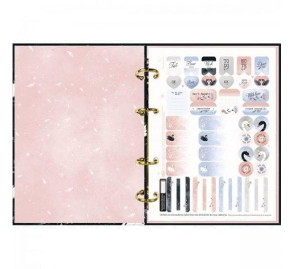 caderno argolado cartonado colegial royal 160 folhas 313475 2