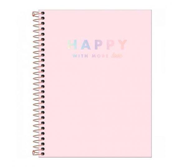 caderno espiral capa plastica colegial 10 materias happy rosa 160 folhas 305553 e1 1