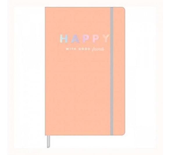 caderno pontilhado fitto happy laranja