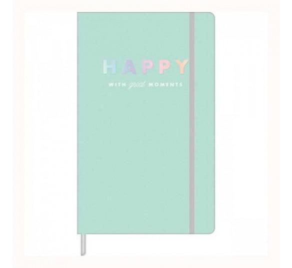 caderno pontilhado fitto happy verde