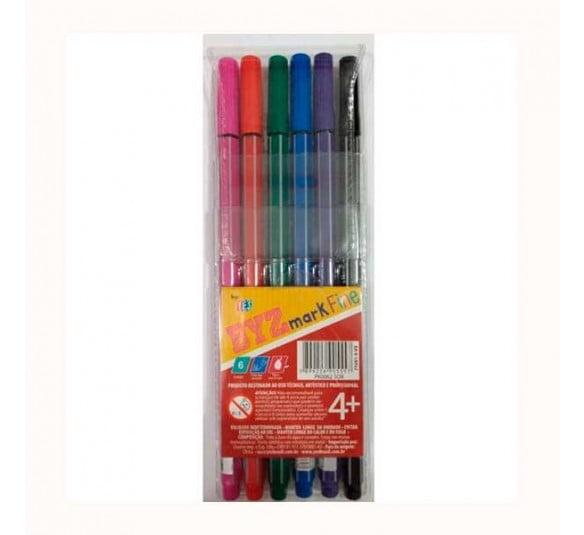 kit caneta bismark 04 6 cores
