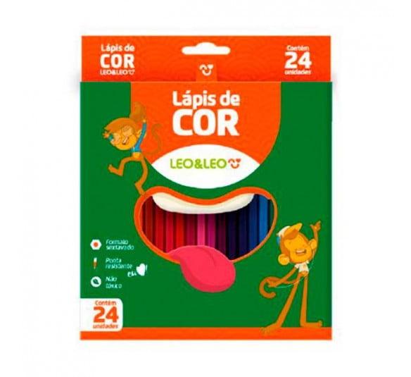 lapis de cor 24 cores leo e leo