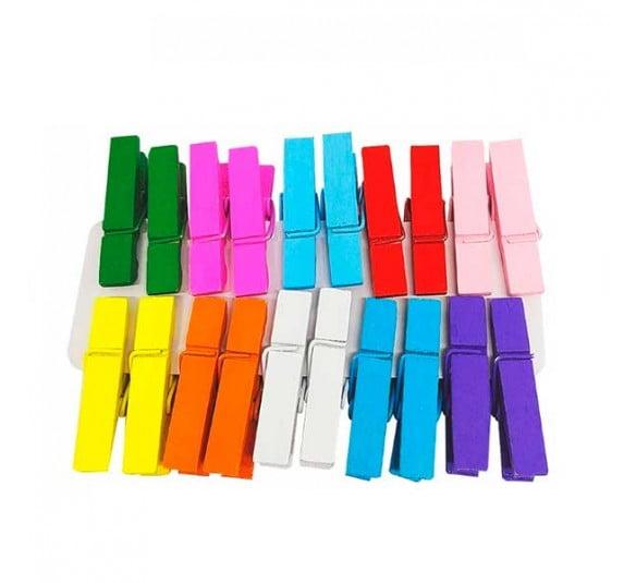 mini prendedor coloridos 20 unidades
