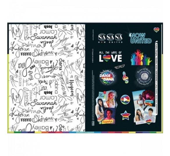 caderno brochura capa dura 14 now united 80 folhas 319660 1