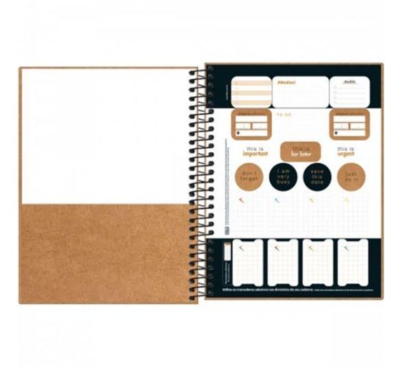 caderno capa dura colegial kraftwork 1 materia 80 folhas 315826 2