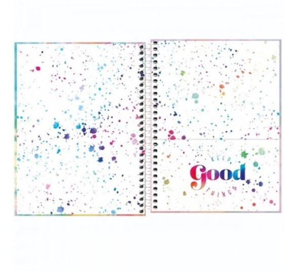 caderno espiral capa dura colegial 1 materia good vibes 80 folhas 323462 1