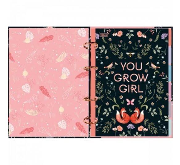 caderno argolado cartonado colegial capricho 160 folhas 319422 1