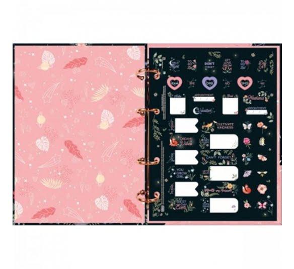 caderno argolado cartonado colegial capricho 160 folhas 319422 2