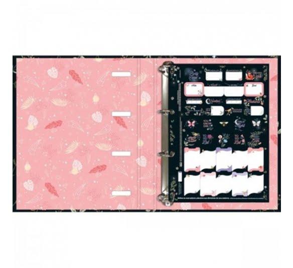 caderno argolado cartonado universitario com elastico capricho 80 folhas 294659 1