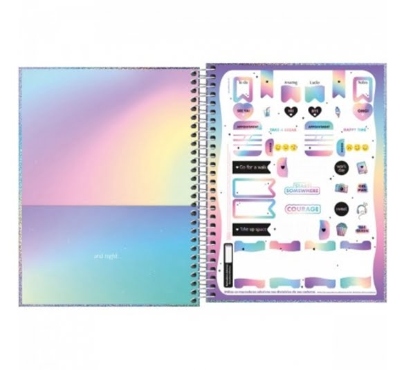 caderno capa dura colegial glow 1 materia 80 folhas 322768 2