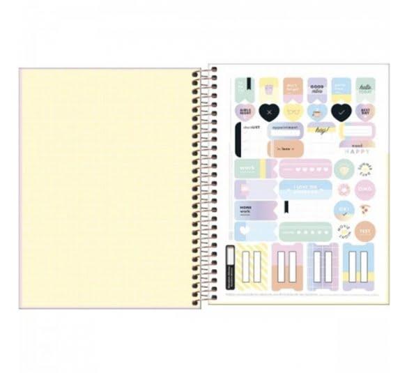caderno capa dura colegial happy 90 gramas 1 materia 80 folhas 319503 2