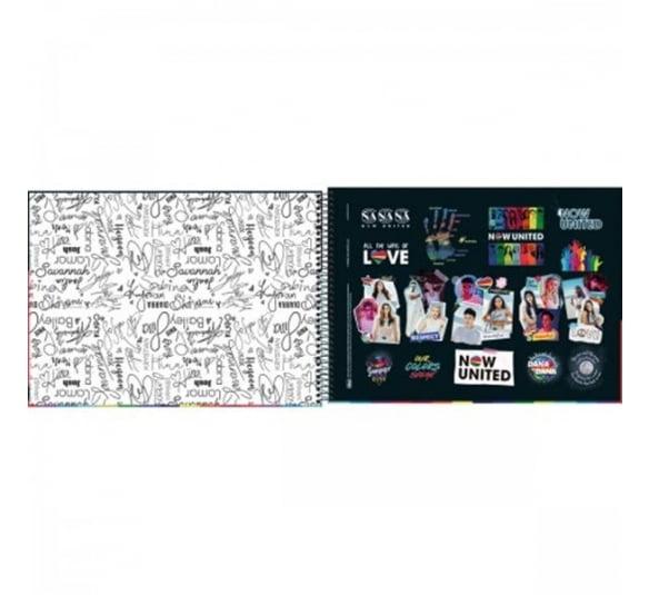 caderno de cartografia e desenho espiral capa dura now united 80 folhas 319678 1
