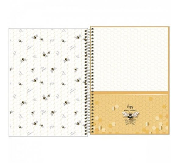caderno espiral capa dura universitario 10 materias honey bee160 folhas 323012 1