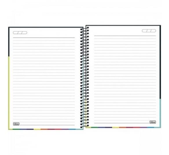 caderno espiral capa dura universitario 10 materias now united 160 folhas 318213 3
