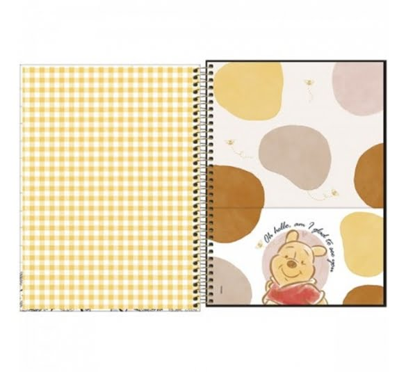 caderno espiral capa dura universitario 10 materias pooh 160 folhas 308293 2