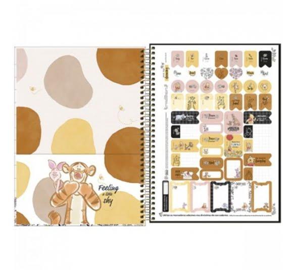 caderno espiral capa dura universitario 10 materias pooh 160 folhas 308293 3