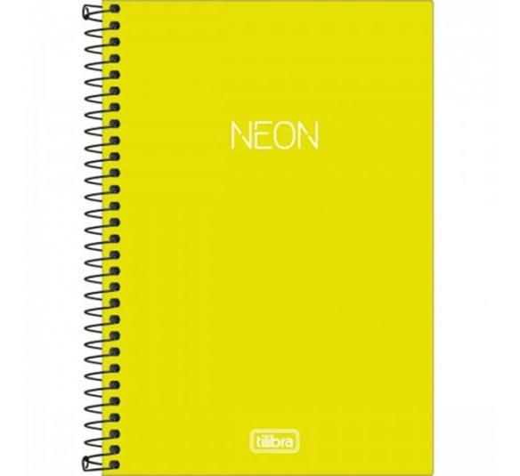 caderno espiral capa plastica 14 neon verde limao 80 folhas 315681 e1